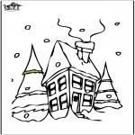 Invierno - Casa en la nieve 2