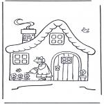 Dibujos Infantiles - Casita con flores