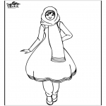 Dibujos Infantiles - Chica oriental