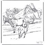 Invierno - Ciervo en la nieve