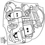 Manualidades - Colgante Cars 2