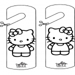Manualidades - Colgante para puerta - Kitty