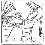 Láminas de la Biblia - Colorea a Moisés