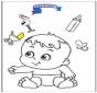Colorea - bebé 3