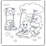 Dibujos Infantiles - Columpio de Oso Amoroso