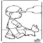 Animales - Con el perro de paseo
