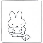 Dibujos Infantiles - Conejito con una carta
