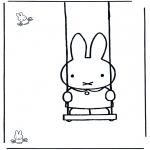 Dibujos Infantiles - Conejito en el columpio