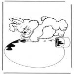 Temas - Conejo con huevo de Pascua
