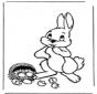 Conejo de Pascua con huevos 1