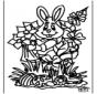 Conejo de Pascua para Ventana