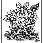 Manualidades - Conejo - Pascua para Ventana