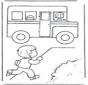 Corriendo hacia el autobús