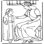 Dibujos de la Biblia - Criada de Naaman