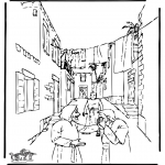 Dibujos de la Biblia - Curación del ciego