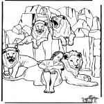 Láminas de la Biblia - Daniel y los leones 3