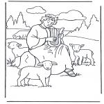 Dibujos de la Biblia - David el pastor