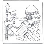 Dibujos de la Biblia - David y Goliat 1