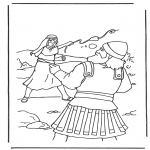 Dibujos de la Biblia - David y Goliat 2
