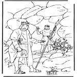 Dibujos de la Biblia - David y Saúl