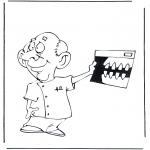 Diversos - Dentista con radiografía
