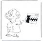 Dentista con radiografía