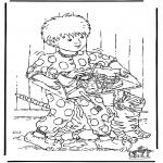 Dibujos Infantiles - Desayuno en la cama