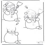 Invierno - Dibuja un muñeco de nieve