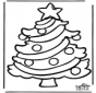 Dibujo de Navidad para ventana 6