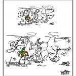 Manualidades - Dibujo de un Ramo de Pascua