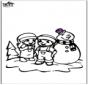 Dibujo para colorear Muñeco de nieve 2