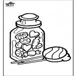 Manualidades - Dibujo para Ventana - Caramelo