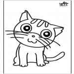 Manualidades - Dibujo para Ventana - gato