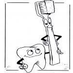 Diversos - Diente y cepillo
