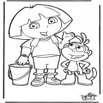 Dibujos Infantiles - Dora 4