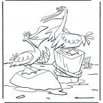Animales - Dos pelícanos