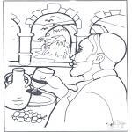 Dibujos de la Biblia - El agua se convierte en vino