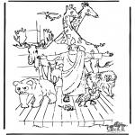 Láminas de la Biblia - El Arca de Noé 3