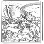 Láminas de la Biblia - El Arca de Noé 4