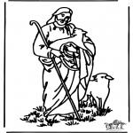 Dibujos de la Biblia - El Buen Pastor 4