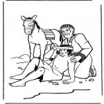 Dibujos de la Biblia - El buen Samaritano 2
