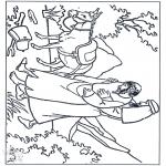 Dibujos de la Biblia - El buen Samaritano 3