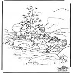 Dibujos de la Biblia - El buen Samaritano 6