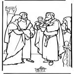 Dibujos de la Biblia - El niño Jesús en el templo