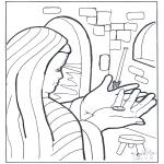 Dibujos de la Biblia - El óbolo de la viuda
