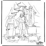 Láminas de la Biblia - El panadero en Egipto