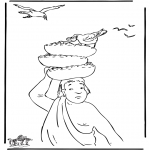 Láminas de la Biblia - El panadero y José