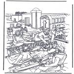 Dibujos de la Biblia - El paralítico 2