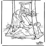 Dibujos de la Biblia - El paralítico 4