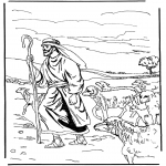 Dibujos de la Biblia - El Pastor